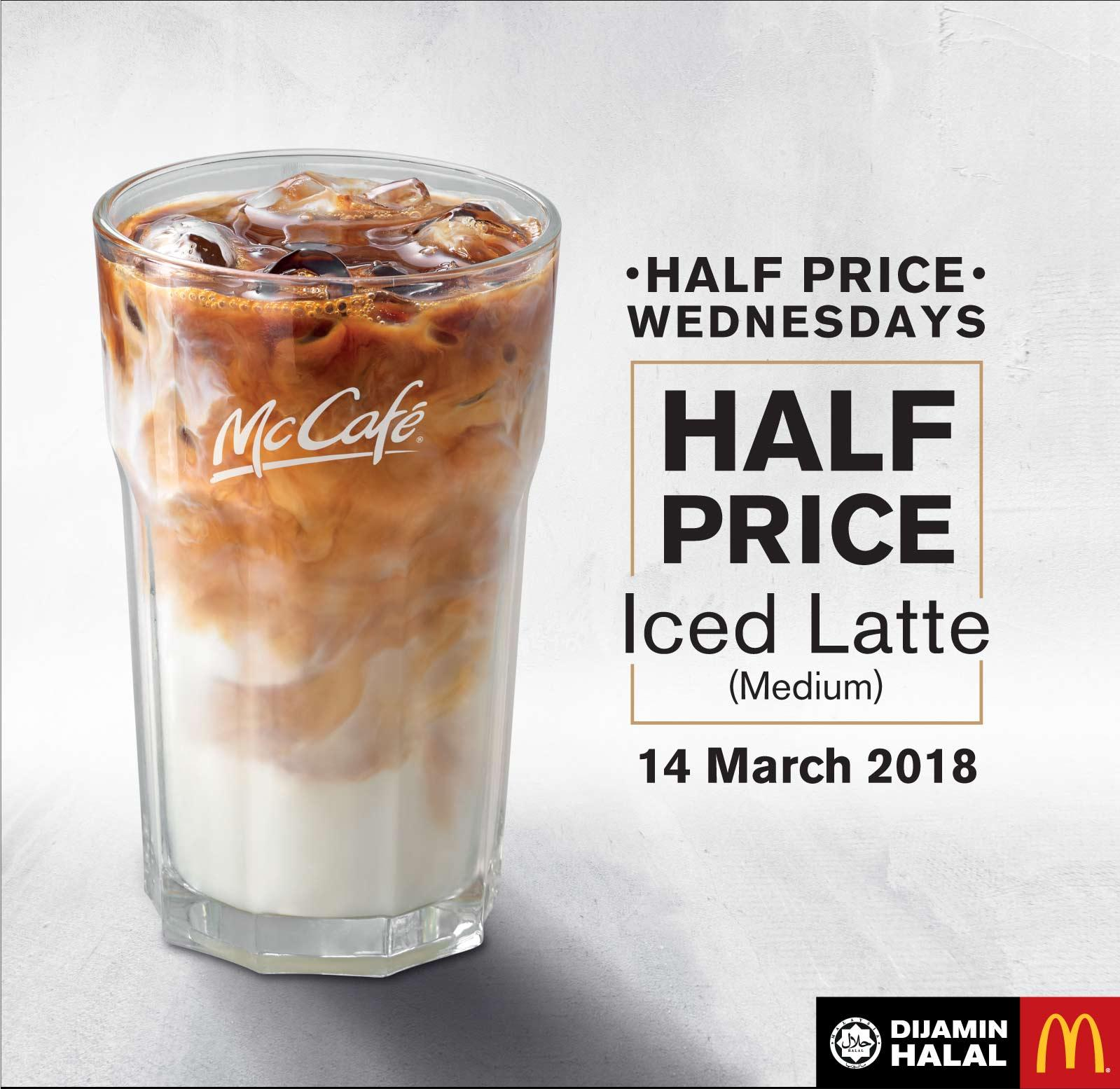 Mcdonald Wholesale Home: McDonald's McCafe Promotion Half Price Wednesday