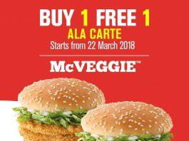 McDonald's McVeggie Promotion Buy 1 Free 1