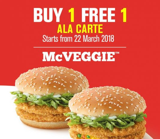 McDonald's McVeggie Promotion Buy 1 Free 1