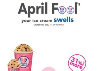 Baskin Robbins Ice Cream Promotion April 2018