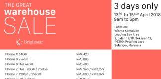 Brightstar Malaysia Warehouse Sale April 2018