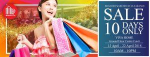 Shoppers Hub Viva Home Sale April 2018
