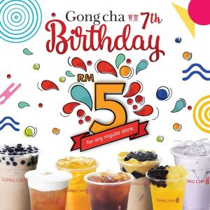 Gong Cha Malaysia Promotion May 2018
