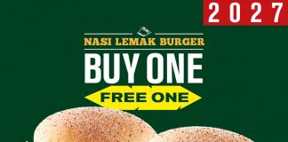 McDonald's Nasi Lemak Burger Promotion Buy 1 Free 1