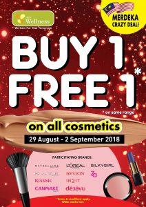 AEON Wellness Promotion Storewide Buy 1 Free 1 Merdeka Deal