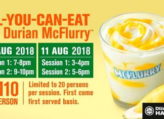 McDonald's Durian McFlurry Promotion August 2018
