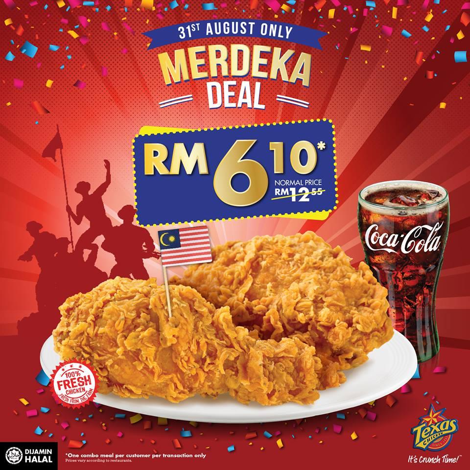 Texas Chicken Malaysia Merdeka Deal 2018