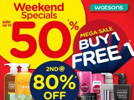 Watsons Malaysia Promotion Mega Sale Weekend Special