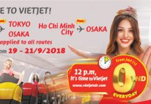 Vietjet Air ticket promotion September 2018