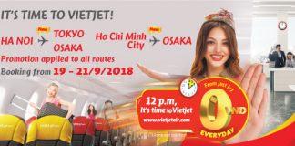 Vietjet Air ticket promotion September 2018