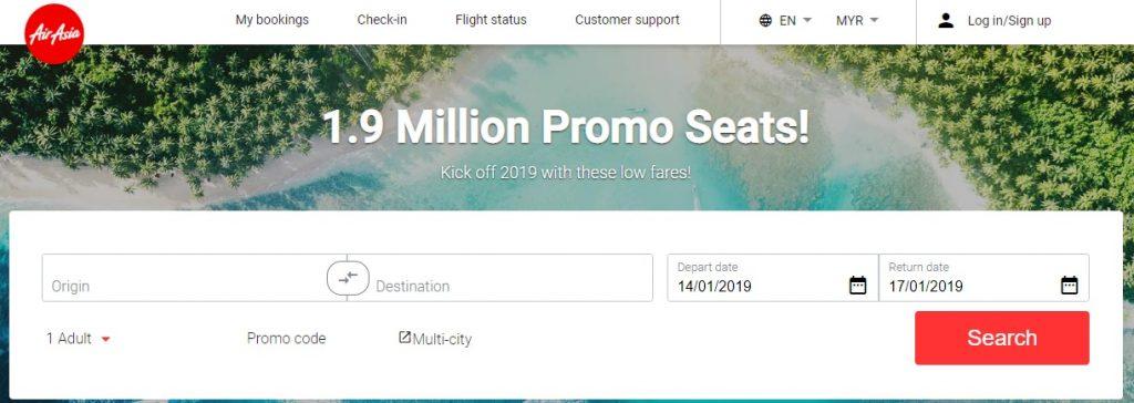 AirAsia Free Seats Promo 2019