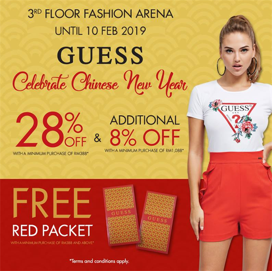 Guess Malaysia Promotion CNY 2019 Deals