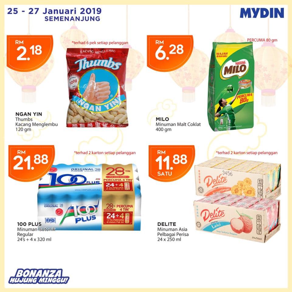 Mydin Malaysia promotion CNY 2019 Deals