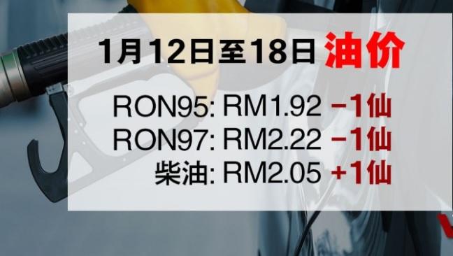 Petrol Price 12-18 Jan 2019 1月12日至18日油价