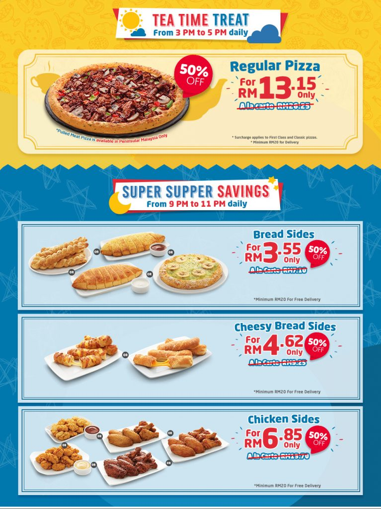 Domino Pizza Malaysia Promotion Jan 2019 50 Off Coupon Malaysia