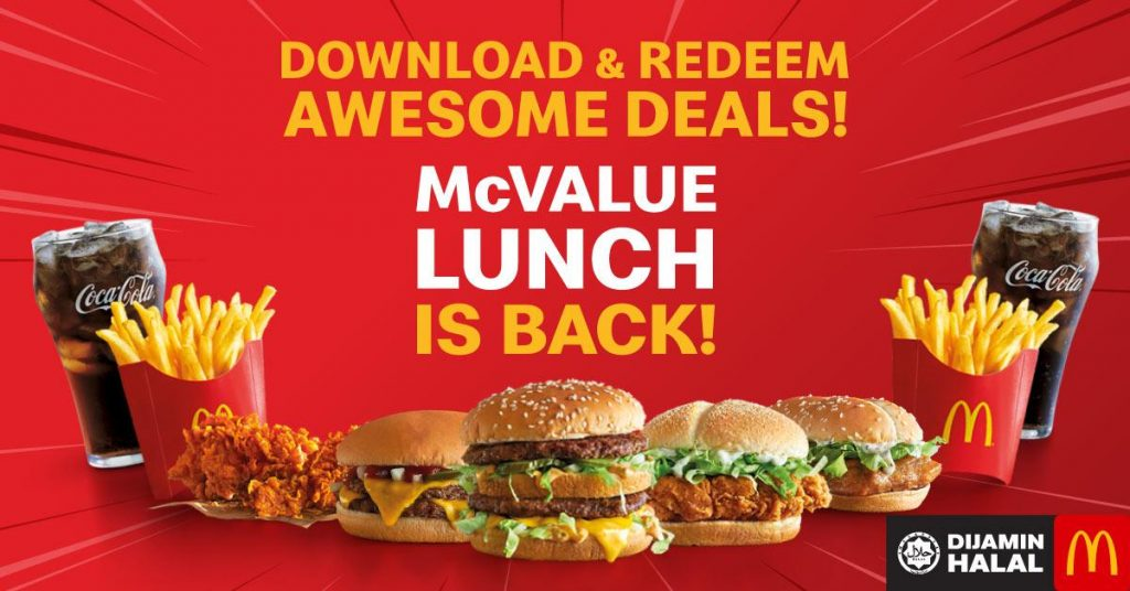 McDonald's Malaysia McValue Lunch