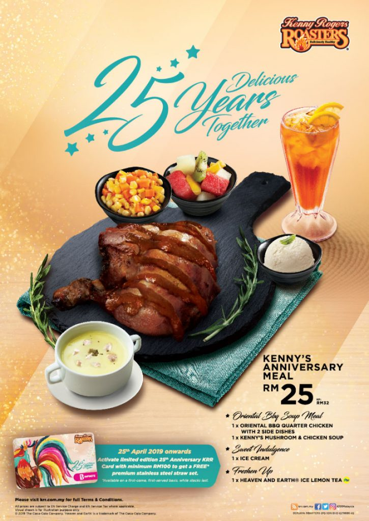 Kenny Rogers Malaysia Promotion Aniversary Meal 2019