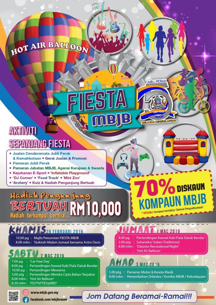 MBJB Fiesta & 70% OFF Summons Discounts
