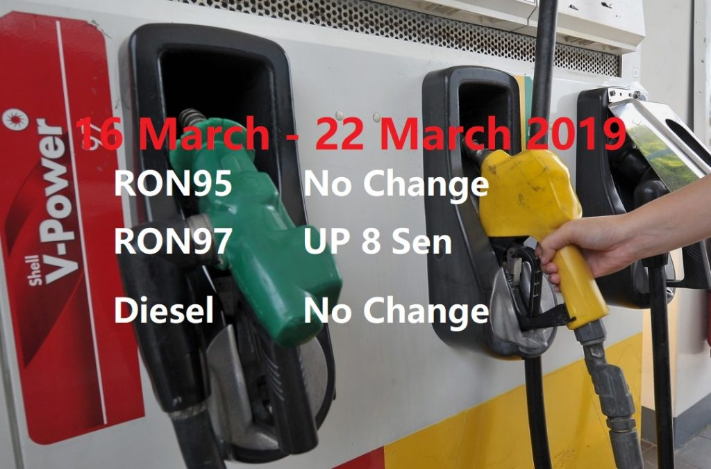Malaysia Petrol Price for 16 March 2019, Weekly Petrol Price Update