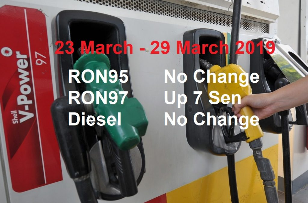 Malaysia Petrol Price for 23 March 2019