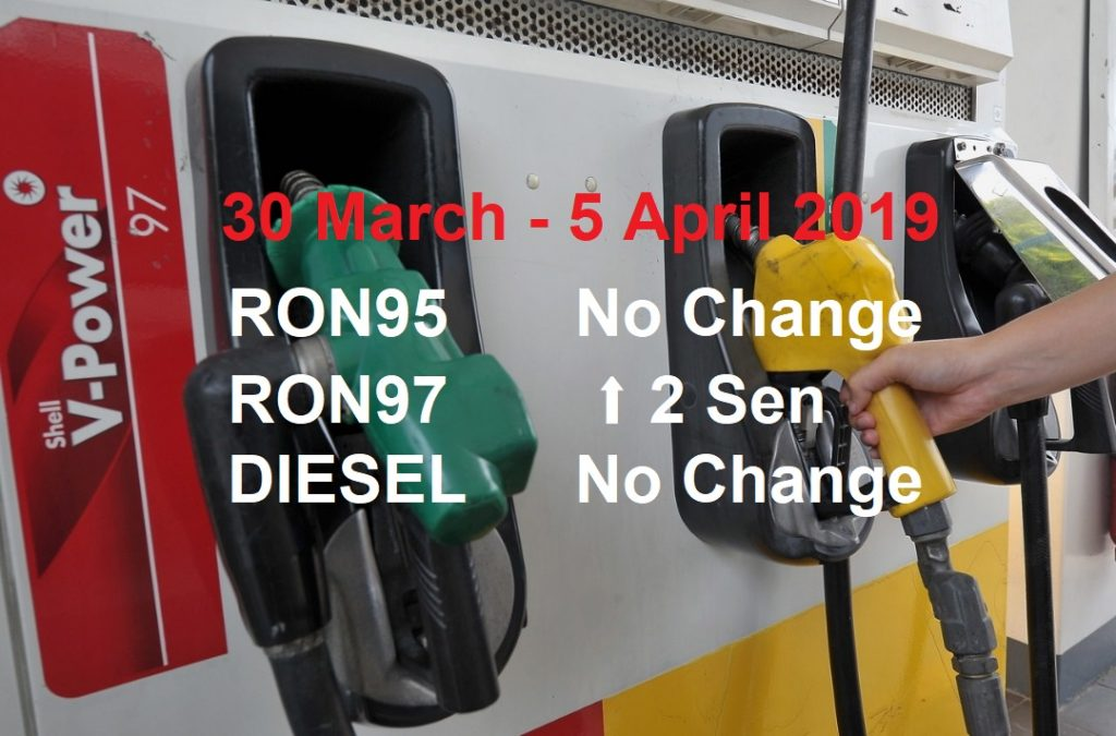 Malaysia Petrol Price for 30 March 2019