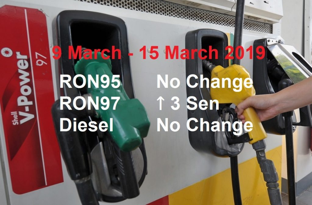Malaysia Petrol Price for 9 March 2019