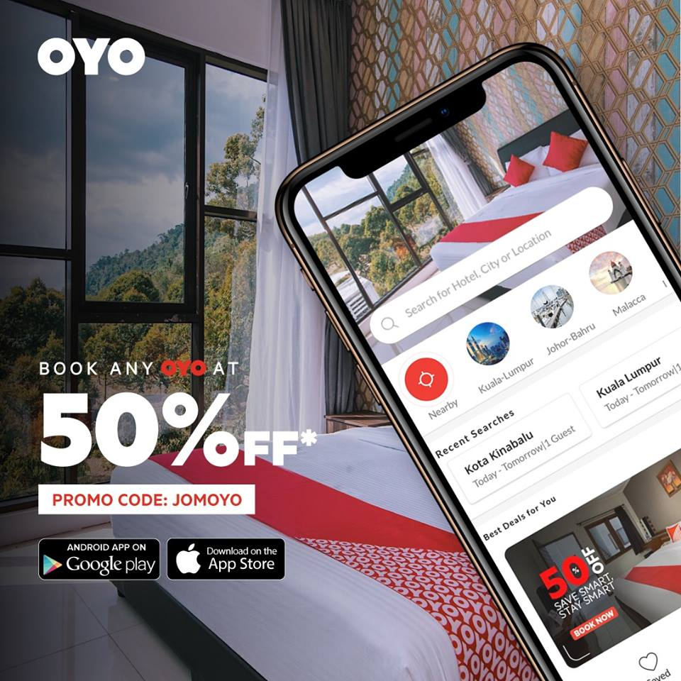 OYO Hotel Promotion 50% OFF March 2019