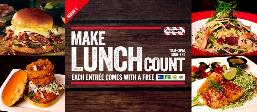 TGI Fridays Malaysia Promotion Free Lunch March 2019