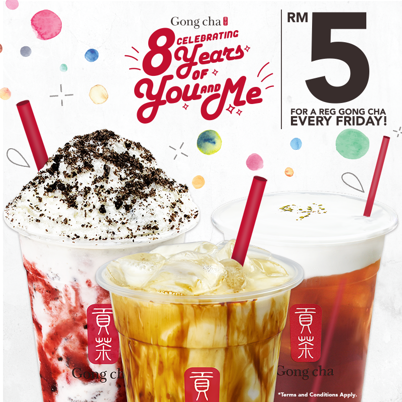 Gong Cha Promotion Friday Deal May 2019