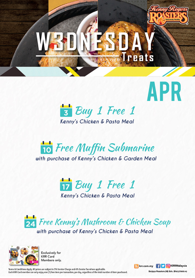 Kenny's Roger Promotion Wednesday Treat April 2019
