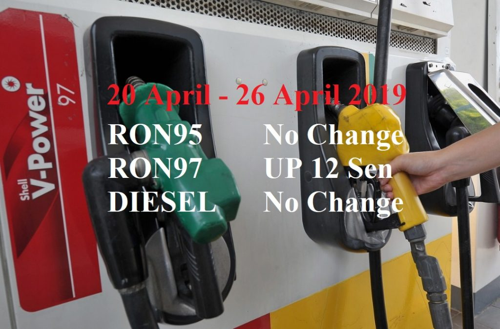 Malaysia Petrol Price for 20 April 2019