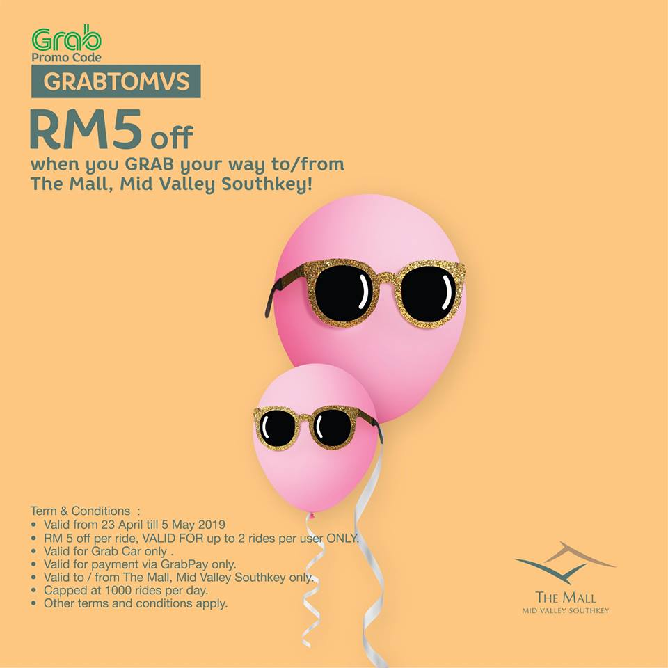 Mid Valley Megamall SouthKey JB  Free Grab Promo Code