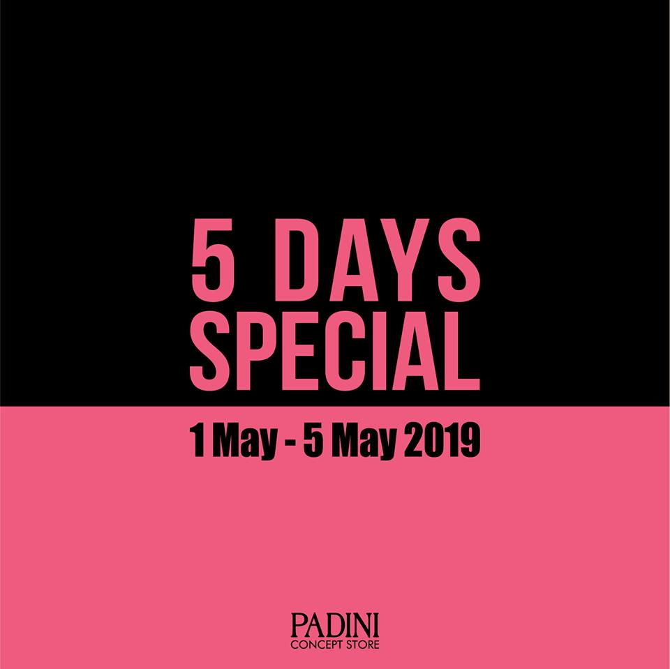 Padini Concept Store promotion April 2019