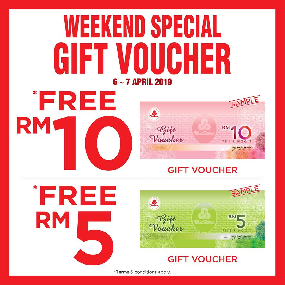 The Store Free Gift Voucher April 2019