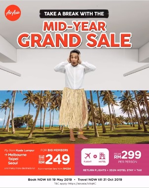 AirAsia Promotion Mid-Year Grand Sale 2019