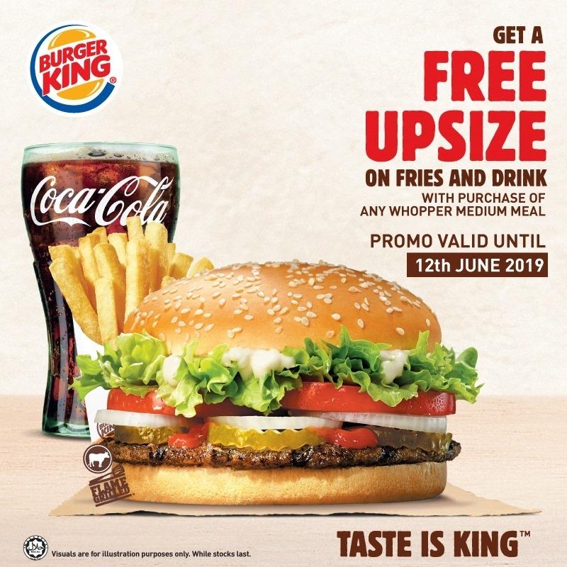 Burger King Promotion May 2019