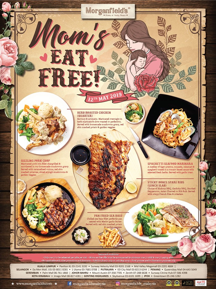 Morganfield's Promotion Mother's Day special 2019