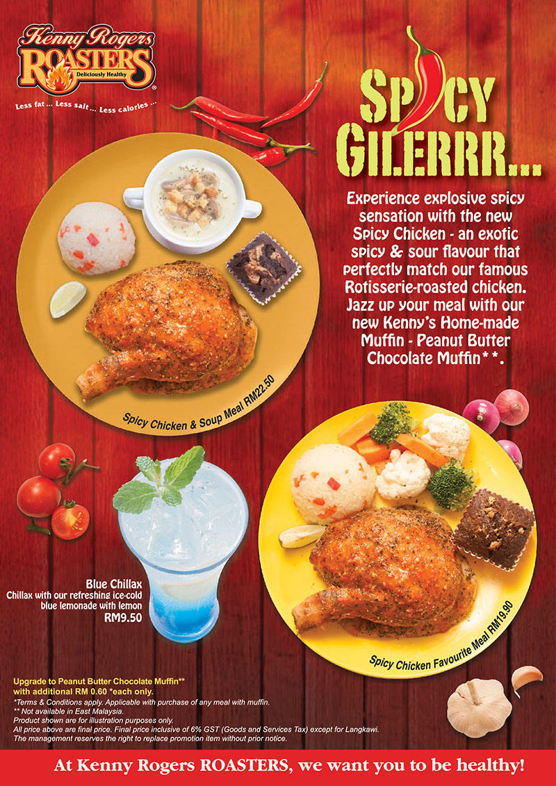 Kenny Rogers ROASTERS promotion February 2017 - CouponMalaysia.com