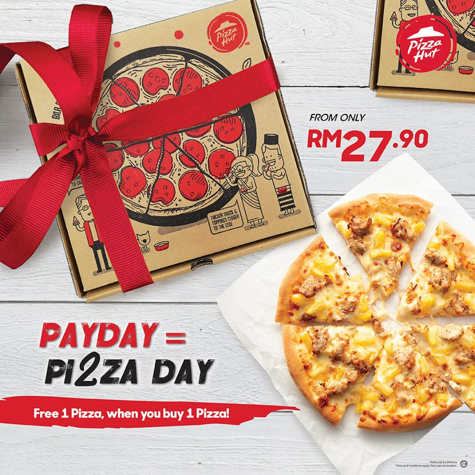 Deal With The Hutt: Pizza Hut Malaysia Promotion Buy 1 Free 1 Deal
